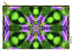 Bluebell Kaleidoscope Carry-all Pouch by Aliceann Carlton