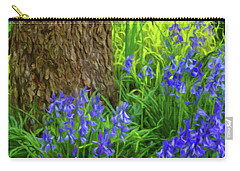 Carry-all Pouch featuring the photograph Bluebells Of Springtime  by Connie Handscomb