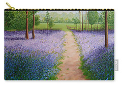 Bluebells With Butterflies Carry-all Pouch