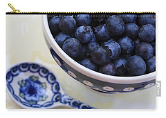 Blueberries And Spoon  Carry-all Pouch by Carol Groenen
