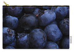 Blueberries Close-up - Vertical Carry-all Pouch