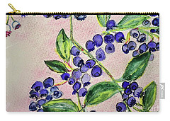 Carry-all Pouch featuring the painting Blueberries by Kim Nelson