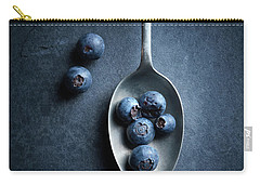 Blueberries On Spoon Still Life Carry-all Pouch