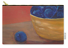 Blueberries Yellow Bowl Carry-all Pouch