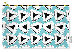 Carry-all Pouch featuring the mixed media Blueberry Hamentashen- Art By Linda Woods by Linda Woods