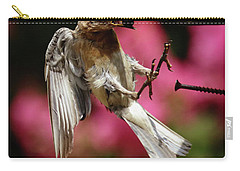 Carry-all Pouch featuring the photograph Bluebird 0726162 by Douglas Stucky