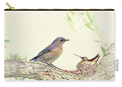 Bluebird And Baby Hummer Carry-all Pouch