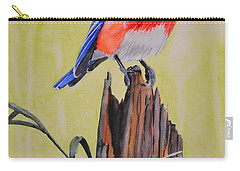 Bluebird And Daisies Carry-all Pouch