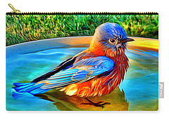 Bluebird Bath Carry-all Pouch