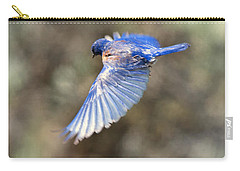 Bluebird Buzz Carry-all Pouch by Mike Dawson