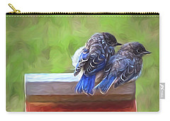 Bluebird Fledglings Carry-all Pouch