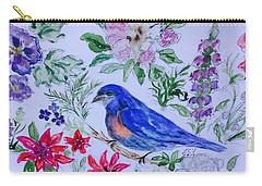Bluebird In A Garden Carry-all Pouch
