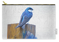 Carry-all Pouch featuring the photograph Bluebird by James BO Insogna