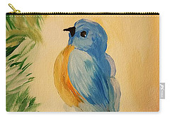 Bluebird Carry-all Pouch by Maria Urso