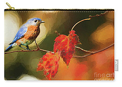 Bluebird Of Autumn Carry-all Pouch