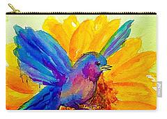 Bluebird On Sunflower  Carry-all Pouch