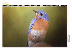 Bluebird On The Nest Pole Carry-all Pouch
