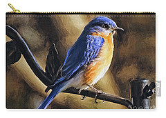 Bluebird Portrait Carry-all Pouch