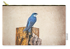Carry-all Pouch featuring the photograph Bluebird Post by James BO Insogna