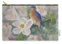Bluebird Vignette Carry-all Pouch by Brenda Bonfield