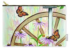 Bluebirds And Butterflies Carry-all Pouch