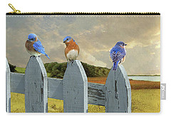 Bluebirds In My Heart Carry-all Pouch