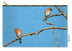 Bluebirds On A Crazy Limb Carry-all Pouch