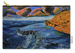 Blue,blue Ocean With Clouds Carry-all Pouch