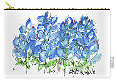 Bluebonnet Dance Watercolor By Kmcelwaine Carry-all Pouch
