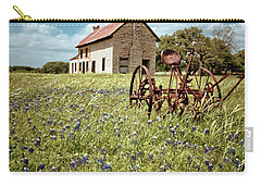 Carry-all Pouch featuring the photograph Bluebonnet Fields by Linda Unger