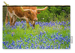 Bluebonnet Longhorn Carry-all Pouch by Inge Johnsson
