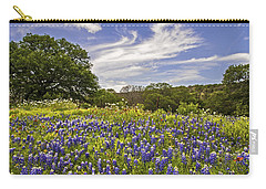 Bluebonnet Spring Carry-all Pouch by Lynn Bauer