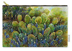 Bluebonnets And Cactus 2 Carry-all Pouch