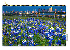 Bluebonnets In Dallas Carry-all Pouch by Inge Johnsson