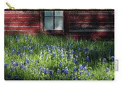 Carry-all Pouch featuring the photograph Bluebonnets In The Shade by David and Carol Kelly