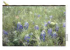 Bluebonnets On Old Paper Carry-all Pouch