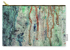 Standing In The Rain - Large Abstract Urban Style Painting Carry-all Pouch