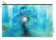 Carry-all Pouch featuring the digital art Bluescape by Linda Sannuti