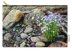 Bluets Among The River Rocks Carry-all Pouch