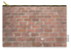 Carry-all Pouch featuring the photograph Blurred Orange Brick Wall,floor Exterior,interior Pattern Design by Jingjits Photography