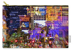 Blurry Vegas Nights Carry-all Pouch