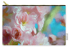 Carry-all Pouch featuring the digital art Blushed By The Sun by Colleen Taylor