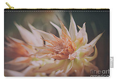 Carry-all Pouch featuring the photograph Blushing Bride by Linda Lees