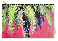 Blushing Pink Palm Carry-all Pouch by Kristen Abrahamson