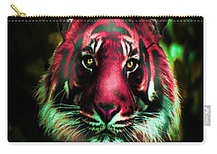 Carry-all Pouch featuring the photograph Blushing Tiger by George Pedro