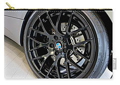 Vehicles Carry-all Pouch featuring the photograph Bmw M3 Wheel by Aaron Berg