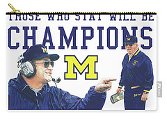 Bo Schembechler Carry-all Pouch