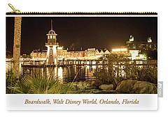 Boardwalk At Night, Walt Disney World Carry-all Pouch by A Gurmankin