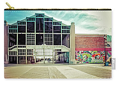 Carry-all Pouch featuring the photograph Boardwalk Casino - Asbury Park by Colleen Kammerer