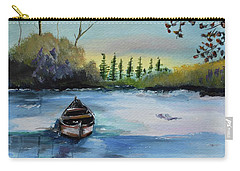 Boat Abandoned On The Lake Carry-all Pouch